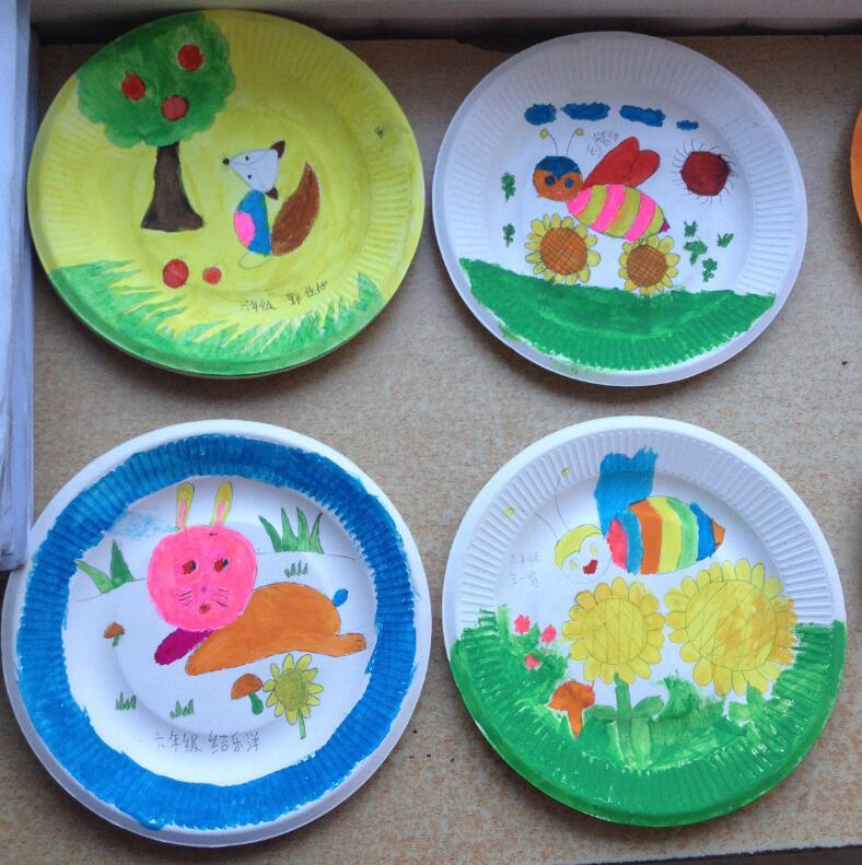 儿童纸盘剪贴画制作:孔雀舞少女图片